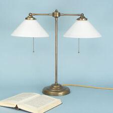 Schreibtischlampe Banker Doppellampe Leselampe Tischlampe Messing 2flammig 8952a