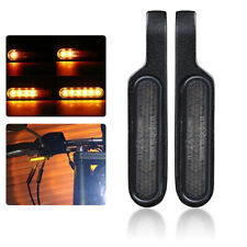 2X Motorcycle LED Turn Signal Light Flowing Water Indicators Sequential Amber