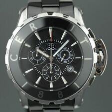 Cerruti 1881 Swiss Men's Chronograph watch with black ceramic band