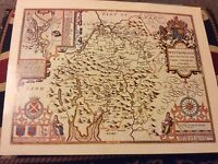 WESTMORELAND REPLICA OF MAP BY JOHN SPEED 1631 ANTIQUE  MAPS OF BRITAIN 43