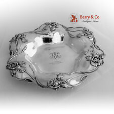 Art Nouveau Serving Tray or Plate Sterling Silver Shreve and Co 1908
