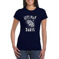 c10696ccaf7de Lets Play Darts Target game Unisex ladies Graphic Printed Personalised T- Shirt