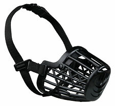 Plastic Cage Dog Muzzle Close Mesh Fully Adjustable for Medium Dogs M - 20cm