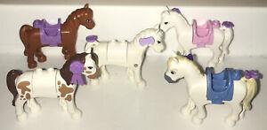 5 Lego Friends Pony Horses Preowned