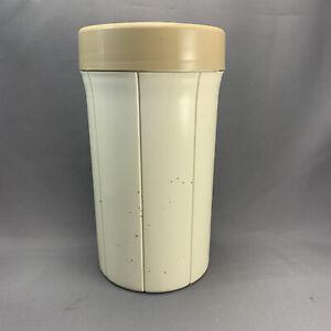 Beige Shaklee Vintage Vita-Pack 6 Compartment Vitamin Supplement Pill Dispenser