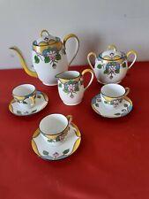 Service à café vintage en Porcelaine de Limoges Art déco
