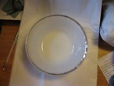 VINTAGE FIRE KING SERVING BOWL WHITE WITH GOLD TRIM MADE IN USA