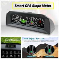 Autos GPS Inclinometer Angle Tilt Slope Meter Indicator Level Gauge Speedometer