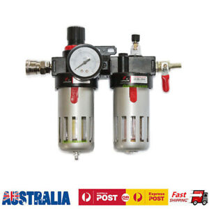 Air Compressor Water Trap Oil Moisture Filter Regulator Lubricator Mount & Valve