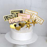Cake Toppers Cupcake Cake Dessert Love Happy Birthday Wedding Party Decoration
