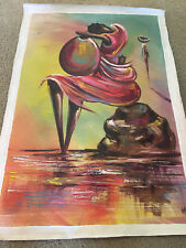 Ghana Original Oil Painting on Canvas (signed)