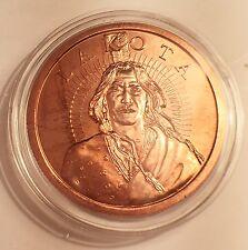 "2016 1 OZ ""LAKOTA NATION"" Indian 999.0 Pure Copper Bullion Coin/token in Ac/Cap"