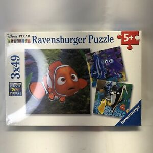 Ravensburger Disney Finding Nemo 3 x 49 pieces puzzle. New Sealed!