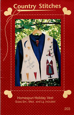 Homespun Holiday Vest ~ Craft Sewing Pattern ~ Country Stitches 203 ~ Size S M L