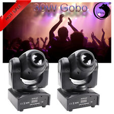 2Lot 30W Stage Lighting Spot GOBO RGBW LED Moving Head DMX Disco DJ Party Lights