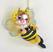 Little Bumble Bee Halloween Costume Glass Christmas Ornament Kurt Adler NEW H06