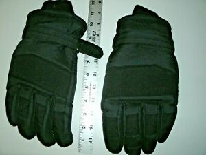 Thinsulate 3M Water Resistant Fully Lined Winter Snow Ski Gloves Black