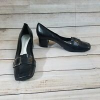Women's ENZO ANGIOLINI Black Leather Shoes US Size 7 - M