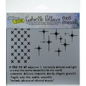 6x6 Ethereal Design Layering Stencil Crafters Workshop for Paper Crafting TCW922