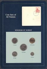 Coin Sets of All Nations Kingdom of Norway 1983-1984 Bu Blue Card