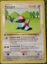 Porygon 39/102 1st Ed First Edition Base Set Pokemon Card