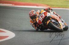 Marc Marquez signed Moto GP 12x8 photo Image R UACC Registered Dealer
