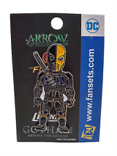 Dc Comics Arrow Deathstroke Metal Enamel Pin Adult Collectible Fansets New