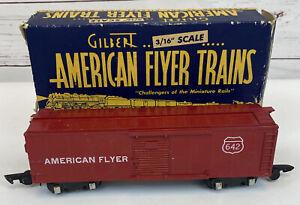 American Flyer 642 S Scale Red Refrigerator Box Car in Original Box Vintage