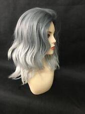 SALE 2Tone Grey Dark Grey with Silver Grey Medium/Long Length L06  Wig