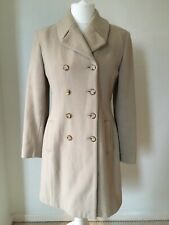 Principles 14 Cream Camel Double Breasted Wool Winter Pea Coat Chic Smart Warm