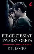 Piecdziesiat twarzy Greya, filmowa okl., EL James, polska ksiazka, polish book