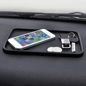 Black Car Inner Dashboard TPU Non-Slip Sundries Storage Mat Holder Accessories