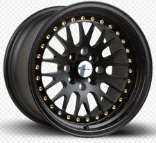 Avid1 AV12 15X8 Rims 4x100 +25 Black Wheels New Set