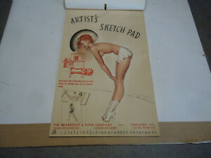 Vintage Pinup girl 12 month complete advertising calendar 1940's pin up Foundry