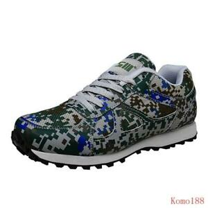Fashion Mens Camouflage lace up mesh Breathable running casual antiskid Shoes