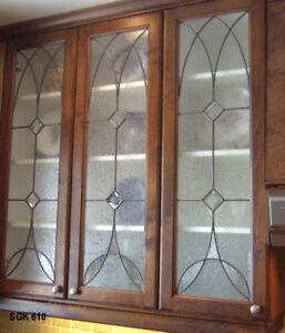 Beautiful Lead glass Heritage Cabinet Door inserts  SGK 610