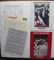 (2) 1982-83 Northeastern Boston Hockey Programs & 1992 Boston Beanpot Hockey