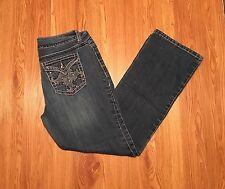 NINE WEST *Annette* Crystal Embellished Pocket Bootcut Jeans Sz 8 (30x29.5)-#154