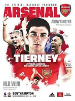 Arsenal v Southampton Official Matchday Programme 2019/20  Free UK Delivery