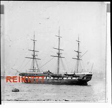 More details for old vintage glass negative slide indefatigable ship on river mersey liverpool