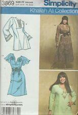 KHALIAH ALI COLLECTION - TUNICS, DRESSES & OBI-BELT (Sz 18 - 24) Simplicity 3869