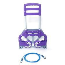 Portable Luggage Folding Push Cart Travel Shopping Trolley Purple 170lb Max Load