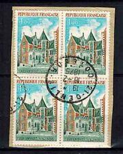 1973 - Château d'Amboise - Bloc de 4 Timbres - Oblitéré Used - Yt.1759 - OB.30