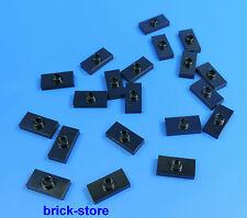 LEGO 1x2 Piastra con pomelli Nero / 20 pezzi