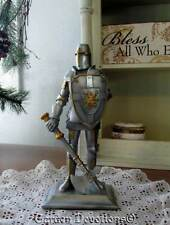 """Incredible 8"""" CRUSADER KNIGHT STATUE FIGURINE Soldier for Christ ~ NEW!"""