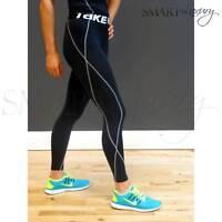 Womens BLACK Compression Base Sports Long Pants Running Yoga Skin Tights Take 5