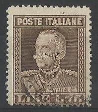 1929 REGNO D'ITALIA IL PARMEGGIANI DENT.13 3/4 VALORE USATO CERT. SORANI