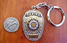 SOUVENIR KEY CHAIN: CITY OF LOS ANGELES CALIFORNIA AIRPORT POLICE OFFICER BADGE