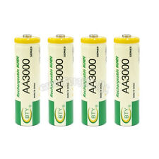 4 x AA LR06 3000mAh 1.2V NI-MH rechargeable battery CELL/RC BTY Green USA Stock