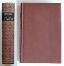 Dante Alighieri Tutte le opere con indice analitico 1965 Barbera Editore